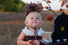 Girl in costume Royalty Free Stock Images
