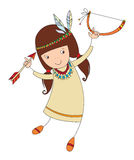 Girl in costume of northern Indian Stock Image