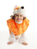 Girl in costumes Royalty Free Stock Photos
