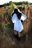Girl in country stock images