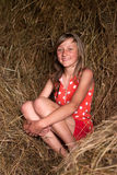 Girl in countryside Royalty Free Stock Photo