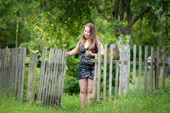 Girl in countryside Royalty Free Stock Image
