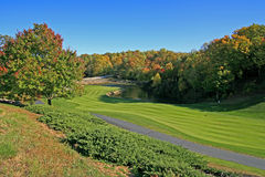 Girl course Landscape with small lake, Landrum, SC Royalty Free Stock Image