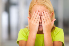 Girl covering face Royalty Free Stock Images