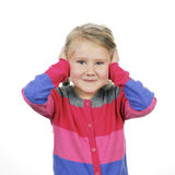 Girl covering her ears Stock Photography