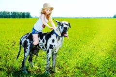 Girl cowboy Stock Photos