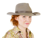 Girl in cowboy hat Stock Photo