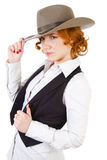 Girl in cowboy hat Royalty Free Stock Photos