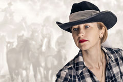 A girl in a cowboy hat Stock Image