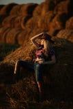 Girl cowboy Stock Image