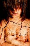 Girl with cracks Stock Image