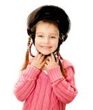 Girl in crash helmet Royalty Free Stock Images