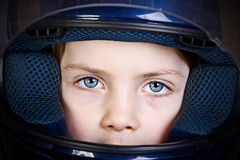 Girl in Crash Helmet Stock Photos