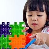 Kid creative and playing. On white background Stock Images