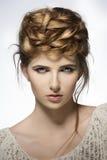 Girl with creative cute hairdo Royalty Free Stock Photos