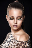 Girl with creative face art Royalty Free Stock Images