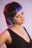 The  girl with a creative hair Stock Photos