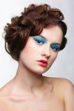 Girl with creative hair-do Royalty Free Stock Photo