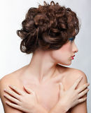 Girl with creative hair-do Royalty Free Stock Image