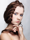 Girl with creative hair-do Royalty Free Stock Photo