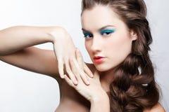 Girl with creative hair-do Stock Photography