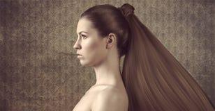Girl with creative hair Stock Photography
