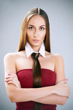 Girl with creative hair style Royalty Free Stock Photo