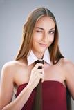 Girl with creative hair style Royalty Free Stock Photos