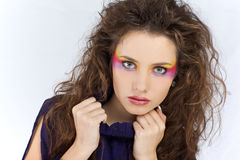 Girl with creative make-up Stock Image