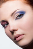 Girl with creative make up on eyes Stock Images