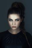 Girl with creative make-up for halloween stock image