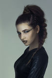 Girl with creative make-up for halloween Royalty Free Stock Photography