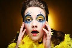 Girl with creative visage Royalty Free Stock Photos