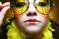 Girl with creative visage Stock Photography
