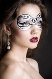 Girl with creative visage Royalty Free Stock Image