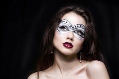 Girl with creative visage Stock Photos
