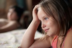 The girl cries Royalty Free Stock Images
