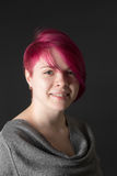 Girl with crimson hair Royalty Free Stock Photo