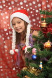 The girl in Cristmas Stock Image