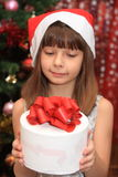 The girl in Cristmas Stock Photos