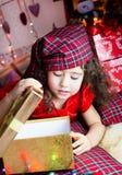 Girl with cristmas gift Stock Image