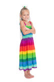 Girl with crossed arms in full growth Royalty Free Stock Photography