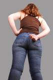 Girl crossing finger on her back. Stock Image