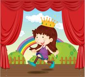A Girl with Crown Stock Photography