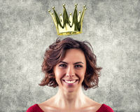 Girl with a crown Royalty Free Stock Image