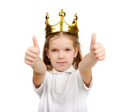 Girl with crown Stock Photography