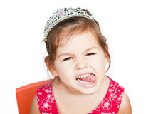 Girl in the crown Stock Images