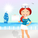 Girl on a cruise Royalty Free Stock Photography