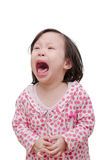 Girl crying over white Royalty Free Stock Image
