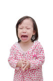 Girl crying over white Royalty Free Stock Photography